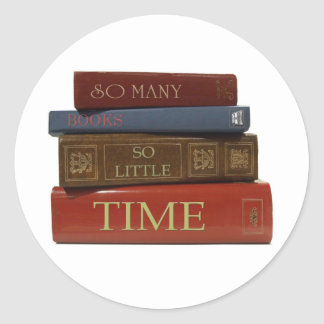 So Many Books So Little Time Stickers