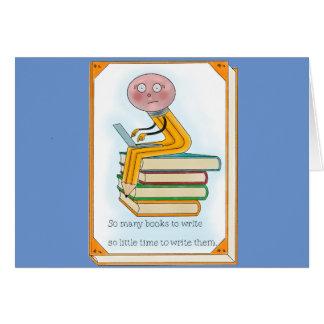 So Many Books to Write Card