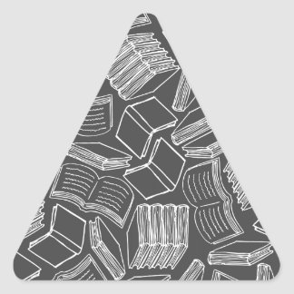 So Many Books Triangle Sticker