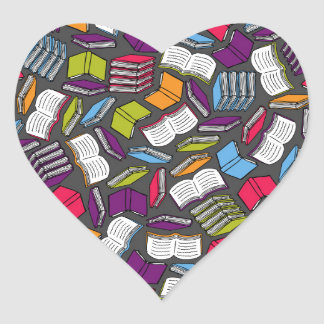 So Many Colorful Books... Heart Sticker