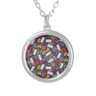 So Many Colorful Books... Silver Plated Necklace