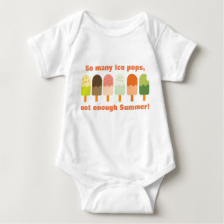 So Many Ice Pops Not Enough Summer Cute Ice Cream Baby Bodysuit