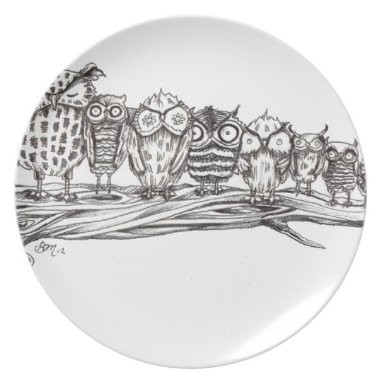 So Many Owls Plate