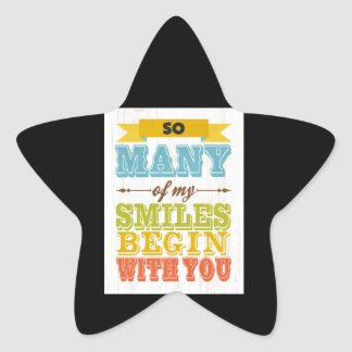 So many Smiles-Begin with You Star Sticker