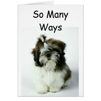 """""""SO MANY WAYS TO SAY THANK YOU"""" CARD"""