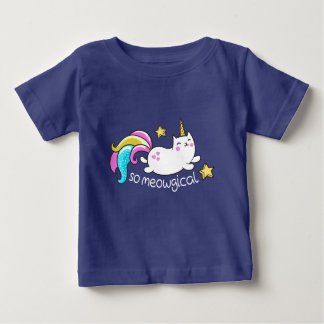 So Meowgical Cute Unicorn kitty glitter sparkles Baby T-Shirt