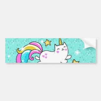 So Meowgical Cute Unicorn kitty glitter sparkles Bumper Sticker