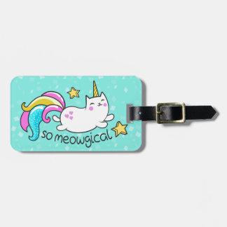 So Meowgical Cute Unicorn kitty glitter sparkles Luggage Tag