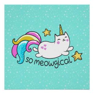 cute unicorns for nursery posters prints zazzle com au