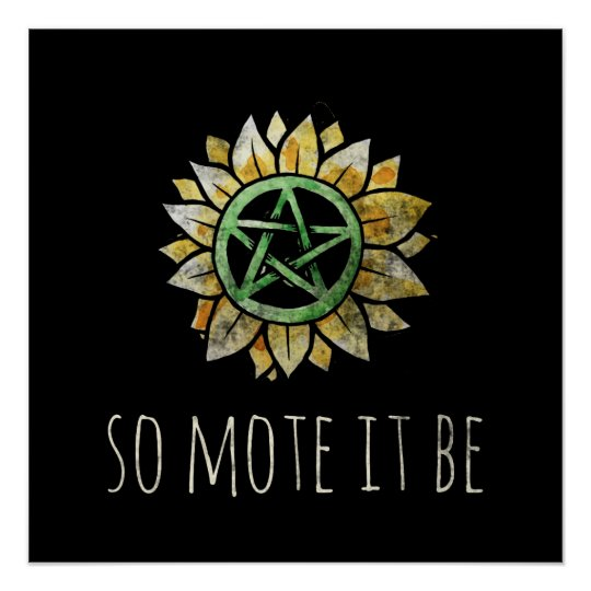 So mote it be poster