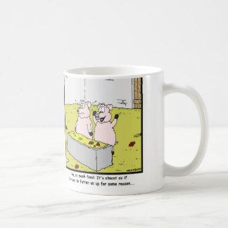 So much food: Pig cartoon Coffee Mug