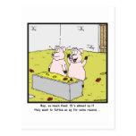 So much food: Pig cartoon Postcard