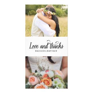 So Much Love | Wedding Thank You Photo Card