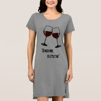 So much wine, so little time quote funny clipart dress
