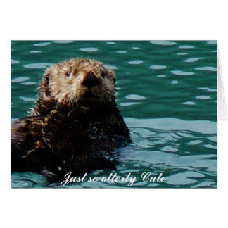 So Otterly Cute Sea Otter notecard