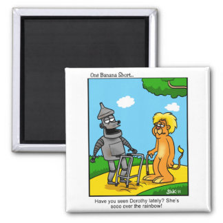 So over the Rainbow Square Magnet