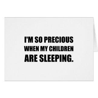 So Precious Children Sleeping Card
