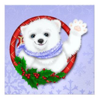 So Precious Christmas Polar Bear Card SRF