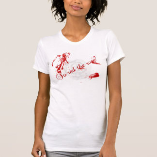 So Red The Rose? Women Destroyed T-Shirt