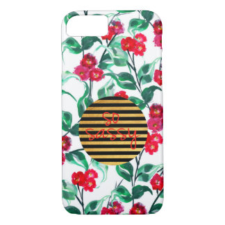 So sassy pattern with gold and black stripes iPhone 8/7 case