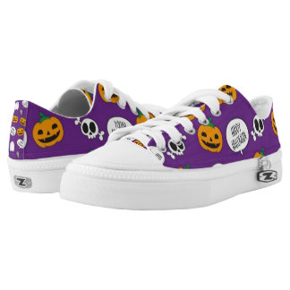 So Scary Happy Halloween Printed Shoes
