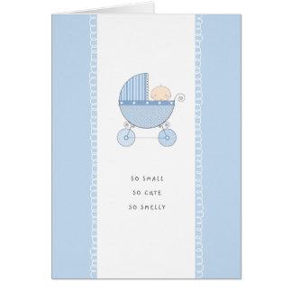 So Small, So Cute New Baby Congrats   Blue Boy Greeting Card
