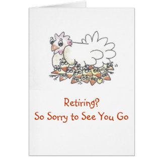 So Sorry to See You Go Retirement Card