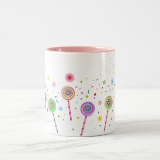 So Sweet (Lollypop) A1 Two-Tone Coffee Mug