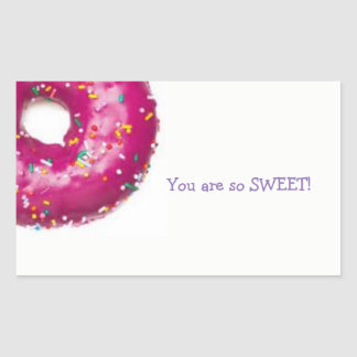 SO SWEET stickers! Rectangular Sticker
