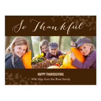 So Thankful Thanksgiving Photo Card