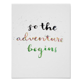 So the Adventure Begins Poster