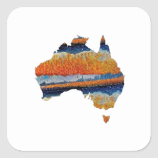 SO VAST AUSTRALIA SQUARE STICKER