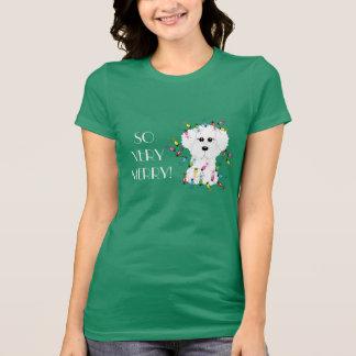 SO VERY MERRY! Bichon Frise Christmas Lights T-Shirt