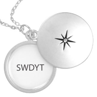 So What Do You Think?.ai Round Locket Necklace
