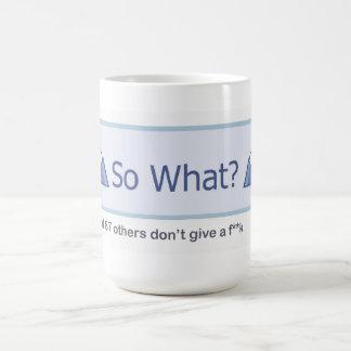 So What? (Facebook Button) Basic White Mug