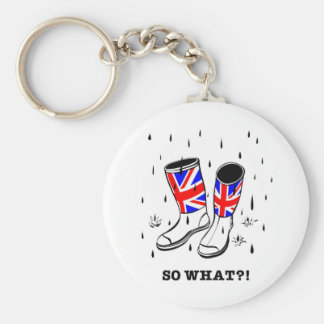 So what?! basic round button key ring