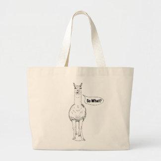 """""""So What?"""" Llama Toto Bag"""
