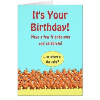 So Where's The Cake?  Birthday Card