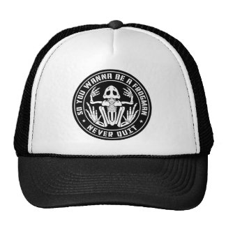 """So You Wanna Be A Frogman """"Never Quit"""" Patch Cap"""