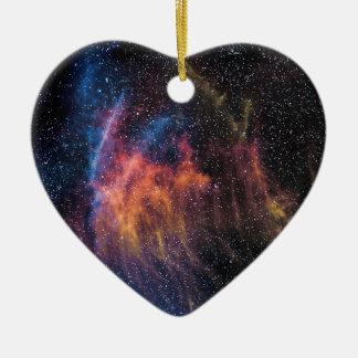 Soace Nebula Ceramic Heart Decoration
