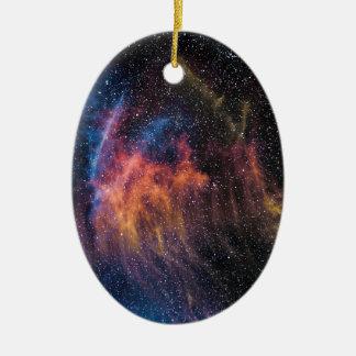 Soace Nebula Ceramic Oval Decoration