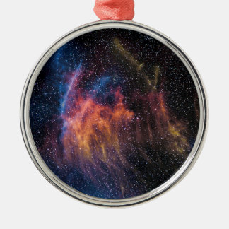 Soace Nebula Silver-Colored Round Decoration