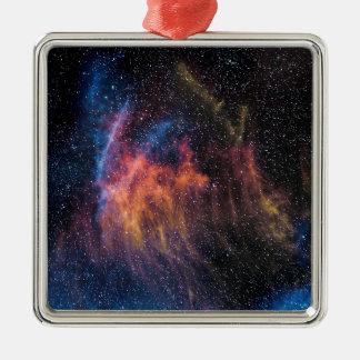 Soace Nebula Silver-Colored Square Decoration