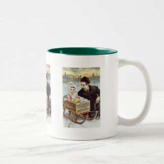 Soap Ad - Child in Sled with Father Coffee Mug