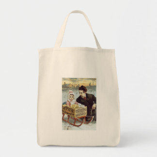 Soap Ad - Child in Sled with Father Tote Bag