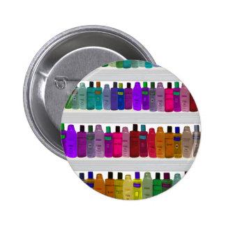Soap Bottle Rainbow - for bathrooms, salons etc 6 Cm Round Badge