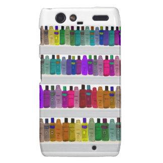 Soap Bottle Rainbow - for bathrooms salons etc Motorola Droid RAZR Cover