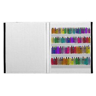 Soap Bottle Rainbow - for bathrooms, salons etc iPad Folio Case