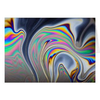 Soap bubble macro photo card