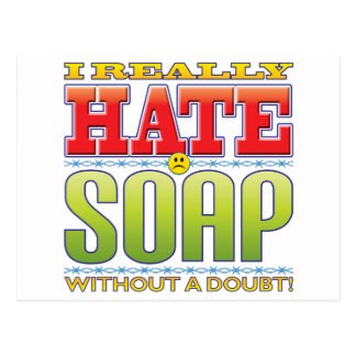 Soap Hate Face Post Card